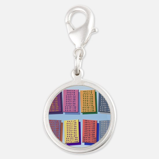 Times TablesH _small poster Silver Round Charm