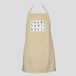 Herbs and Spices Illustrated Light Apron