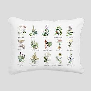Herbs and Spices Illustr Rectangular Canvas Pillow