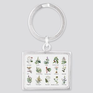 Herbs and Spices Illustrated Landscape Keychain