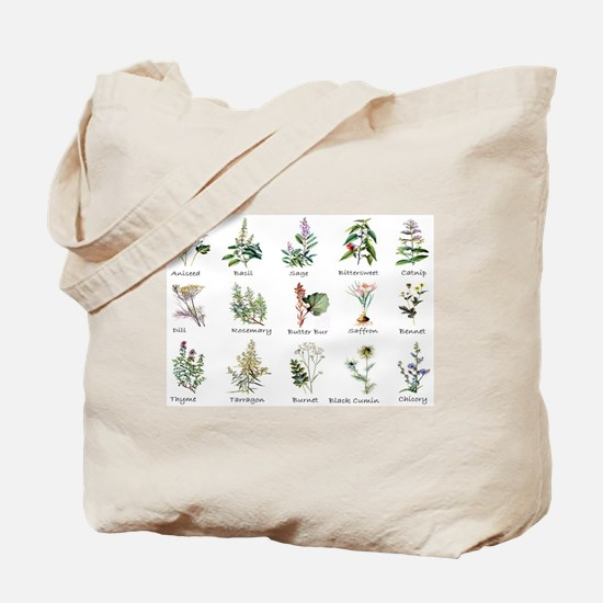 Herbs and Spices Illustrated Tote Bag