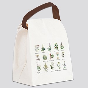 Herbs and Spices Illustrated Canvas Lunch Bag