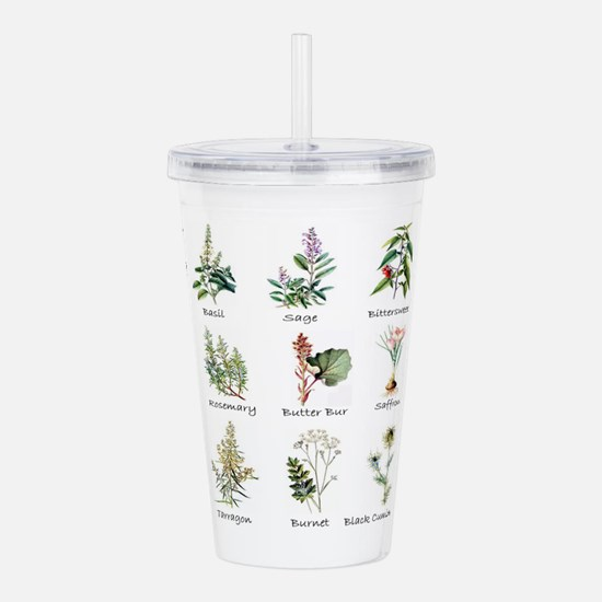 Herbs and Spices Illus Acrylic Double-wall Tumbler
