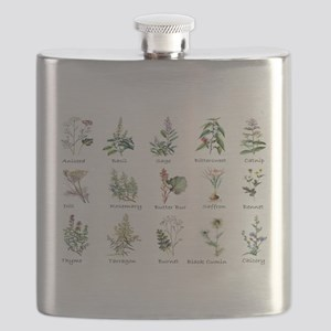 Herbs and Spices Illustrated Flask