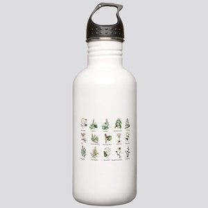 Herbs and Spices Illus Stainless Water Bottle 1.0L