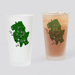 map Drinking Glass