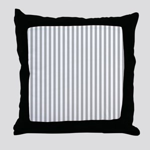 Grey Candy Stripes Throw Pillow