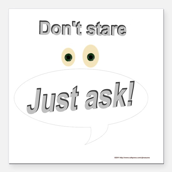 """dontstare Square Car Magnet 3"""" x 3"""""""
