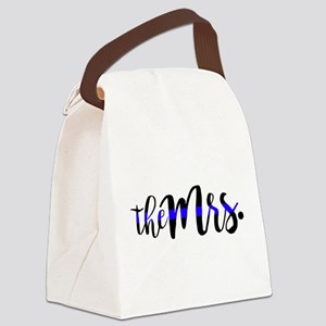Thin Blue Line - The Mrs Canvas Lunch Bag