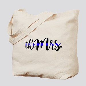 Thin Blue Line - The Mrs Tote Bag