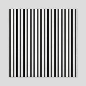 Black Candy Stripes Queen Duvet