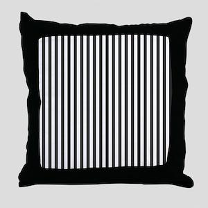 Black Candy Stripes Throw Pillow