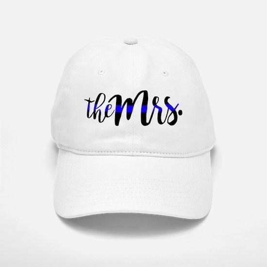 Thin Blue Line - The Mrs Baseball Baseball Cap