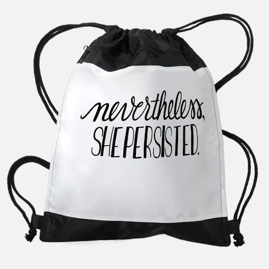 Nevertheless, she persisted Drawstring Bag