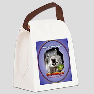 Punxsutawney Phils Shadow-Circle Canvas Lunch Bag
