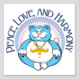 "Buddha-Kitty-2011 Square Car Magnet 3"" x 3"""