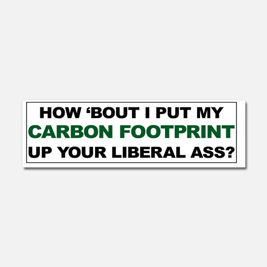 Carbon Footprint CP Car Magnet 10 x 3