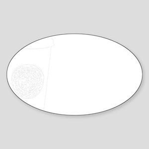 Drug of Choice white Sticker (Oval)