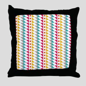 Vertical Tribal Bands Throw Pillow