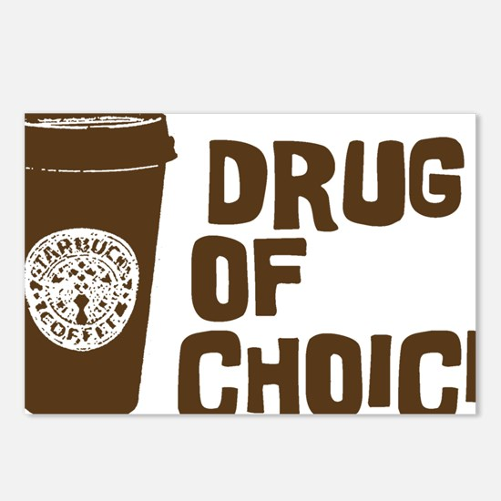 Drug of Choice brown Postcards (Package of 8)