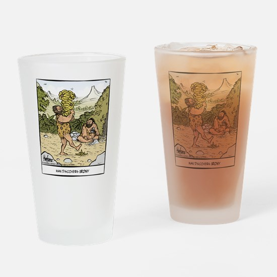 Early Irony Final Drinking Glass