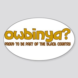 OWBINYA BLACK COUNTRY » Oval Sticker