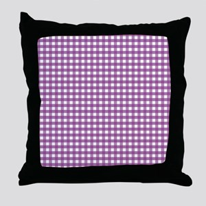 Purple Gingham Pattern Throw Pillow