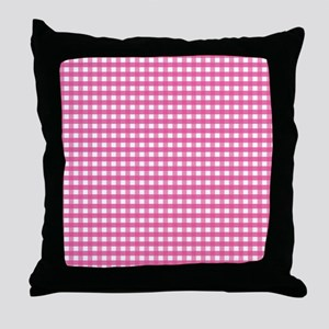 Pink Gingham Pattern Throw Pillow
