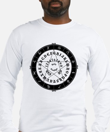Black on White Tee Roung Long Sleeve T-Shirt
