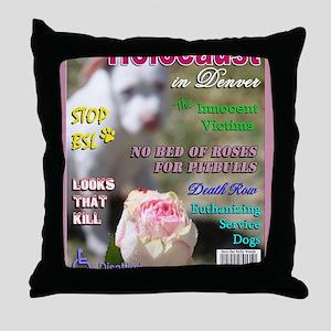 Denver BSL Roses Luna copy Throw Pillow