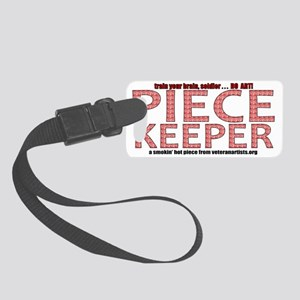 print-piecekeeper-red1 Small Luggage Tag