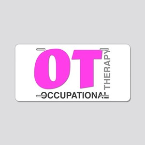 PINK OT Aluminum License Plate