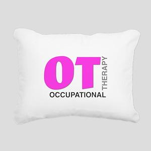 PINK OT Rectangular Canvas Pillow