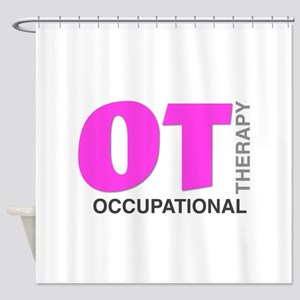 PINK OT Shower Curtain