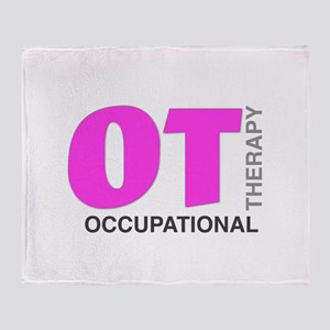 PINK OT Throw Blanket