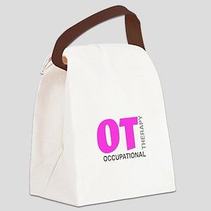 PINK OT Canvas Lunch Bag