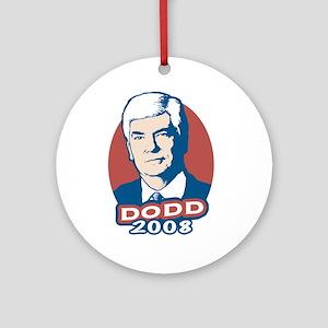Dodd President 2008 Ornament (Round)