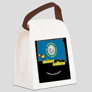 SDstateFlagILYbbt Canvas Lunch Bag