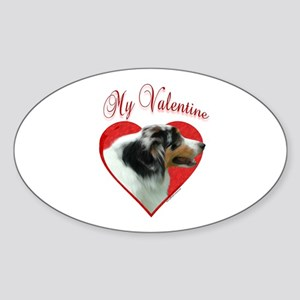Aussie Valentine Oval Sticker