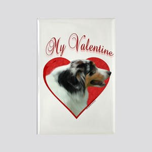Aussie Valentine Rectangle Magnet