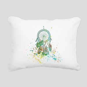 Dreamcatcher splatter Rectangular Canvas Pillow