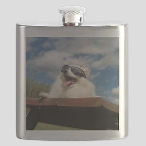 American Eskimo Dog Flask