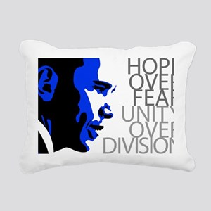 obama_blue_grey_division Rectangular Canvas Pillow