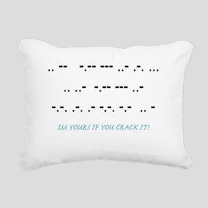 CRACK IT MORSE CODE T-SH Rectangular Canvas Pillow