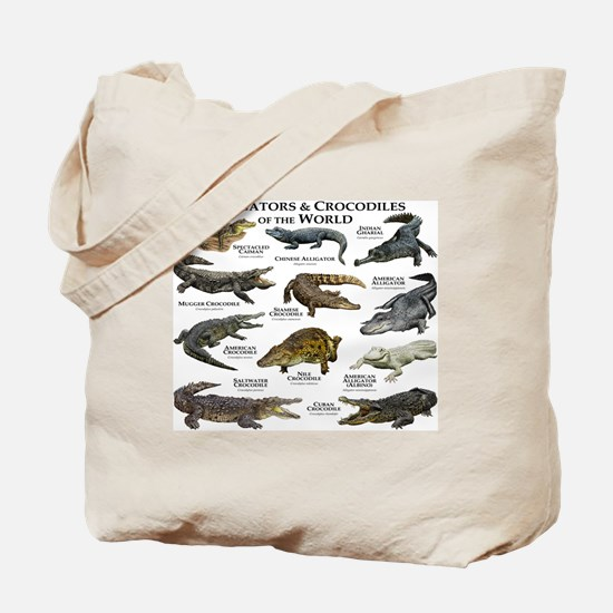 Alligator & Crocodiles of the World Tote Bag