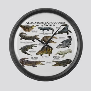 Alligator & Crocodiles of the World Large Wall Clo