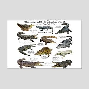 Alligator & Crocodiles of the World Mini Poster Pr