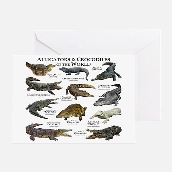 Alligator & Crocodiles of the World Greeting Card