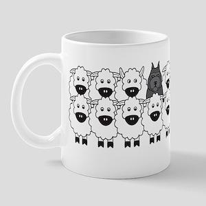 bouvierSheep_stickerBumper Mug