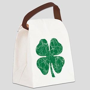 Washed Shamrock Canvas Lunch Bag